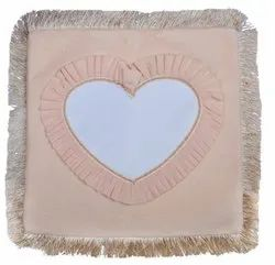 Sublimation Velvet Cushions Blank Printable Covers Square With Heart Shape Personalized Fur Pillow