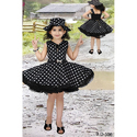 Georgette Party Wear Girls Black Frock
