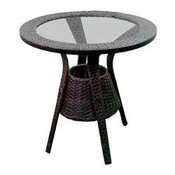 Universal Furniture Brown Rattan & Wicker Modern Round Table