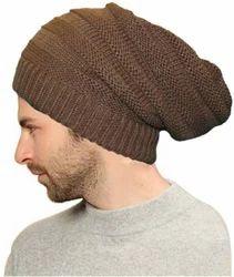 Brown Woolen Beanie Cap