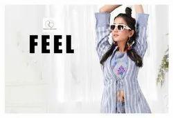 Feel Rayon Slub Dyed Heavy Embroidery Work 3 Piece Designer Kurtis