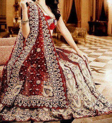 All Chanderi , Georgette Bridal Lehenga