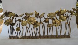 Lotus Pond Brass Table Sculpture