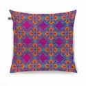 Delightful Flower Motif Cushion Cover