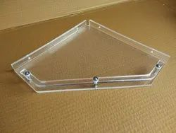 Acrylic Corner Shelf Diamond (12 Inches)
