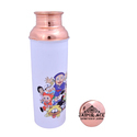 Copper Water Bottle Cartoon Print