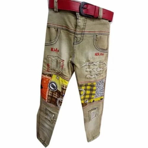 Casual Wear Stretchable Kids Cotton Jeans