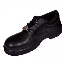 Liberty Casino Leather Black Safety Shoes, Size: 5 - 11