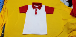 White Half Sleeve T-Shirt School Uniform