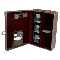 Dark Brown Check - 03 Travel Bar Set