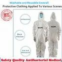 Washable PPE Kit Coverall Suit With Shoe Cover