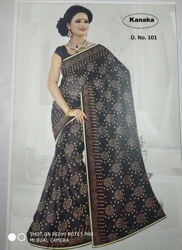6cbf75b9a7 Kanaka Surat Lace Border Bandhani Sarees, 18 To 90 Years, Packaging Type: 24