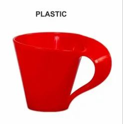 MEHUL Plastic Microwave Safe Tea Cup Set (Red)