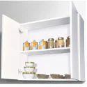 White Kitchen Wall Shelf Unit