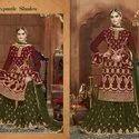 Marrige Functions Multicolor Wedding Dress