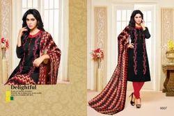 Printed Black Khwaish Salwar Suit Fabric