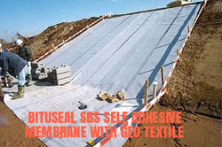 Bitutexself SBS Self Adhesive Membrane With Geo Textile
