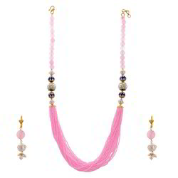 Jaipuri Beaded Earrings Necklace Set 234
