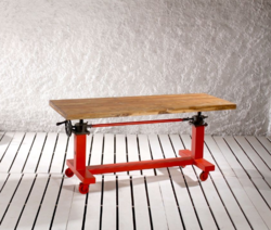 Adjustable Crank Mechanism Dining Coffee Table