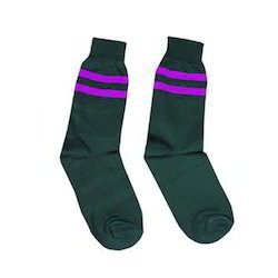 Girls Single Strips School Socks