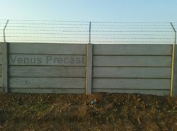 Precast Boundary Wall With Barbed Wire