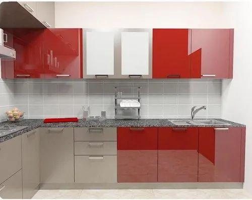 Bwp Wooden Lacquer High Gloss Kitchen Cabinet Rs 1500 Square Feet Kpc Modular Designers Id 21423505173