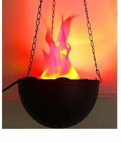 Fluorescent Modern Contemporary Funny Fake Fire Basket Flammen Lampe