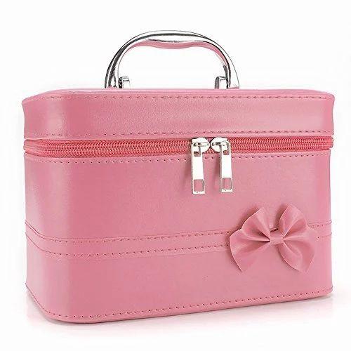 Pink Las Pu Makeup Box Rs 500