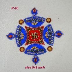 Mini Deepak Rangoli