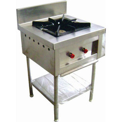 Stainless Steel 25 Kg Single Burner Range, For Restaurant, Hotel