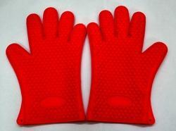 Silicone Oven Rubber Hand Gloves ( Red )
