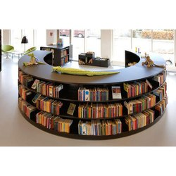 Curved Library Bookshelf
