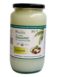 Farm Naturelle -100 % Pure Organic Extra-Virgin Cold Pressed Coconut Oil (Glass Bottle - 1000 ml)