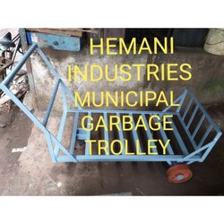 Mild Steel Municipal Garbage Trolley