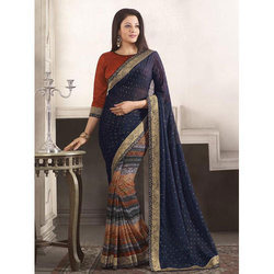 Casual Wear Printed Ladies Saree, With blouse piece, 5.5 m (separate blouse piece)
