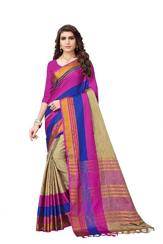 f9edda73a2 Multi Coloured Printed Buyonn Cotton Silk Saree Party Wear, Rs 350 ...