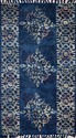 Natural Color Indigo Handwoven Paddle rug in mud print from Jaipur