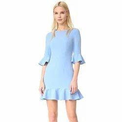 Ladies Cotton Mini Dress, Size: S, M, and L
