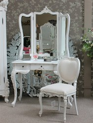 White Wooden Le Rochelle Dressing Table