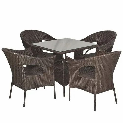 Rattan Garden Dining Table Chair