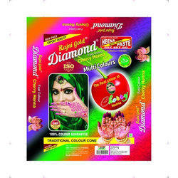 Multicolor Cherry Henna Mehandi Cone, For Personal, Pack Size: 50 G