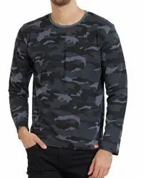 Camouflage T Shirt Mens Full Sleeve
