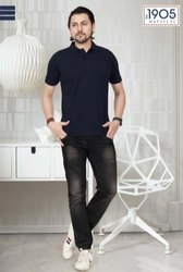 Mafatlal Basic T-Shirt (Navy Blue)
