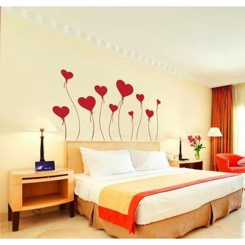 multi printed designer bedroom wall sticker, rs 100 /piece | id
