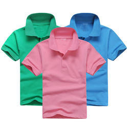 Cotton Casual Wear Kids Collar T Shirt