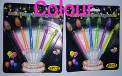Color Flame Birthday Cake Candle
