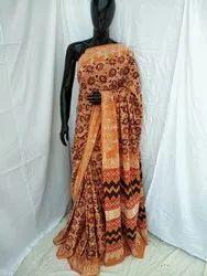 Hand Block Printed Cotton Saree