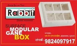 Rabbit & Repeat Plastic 6 Modular Electric Box, for Electric Fitting, Push Button Box