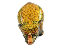 Handmade Kadam Wood Small Elephant with Miniature Painting