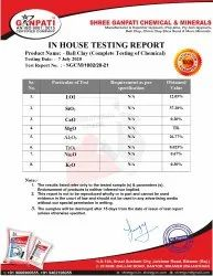 Lab Test Report Of Ball Clay
